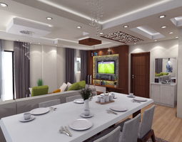 decoration Modern living room 3D