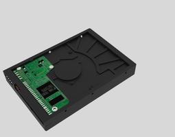 3D Detailed Hard disk drive