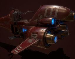3D model spaceship motor