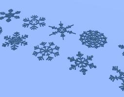 3D asset realtime Snowflakes