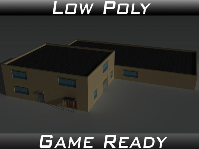 factory building 36 3d model low-poly obj 3ds fbx mtl 1