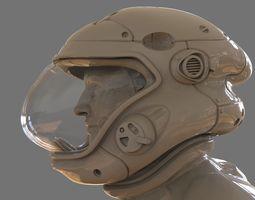 3D printable model Astronaut Girl Bust