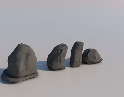 3D model Low Poly Rocks