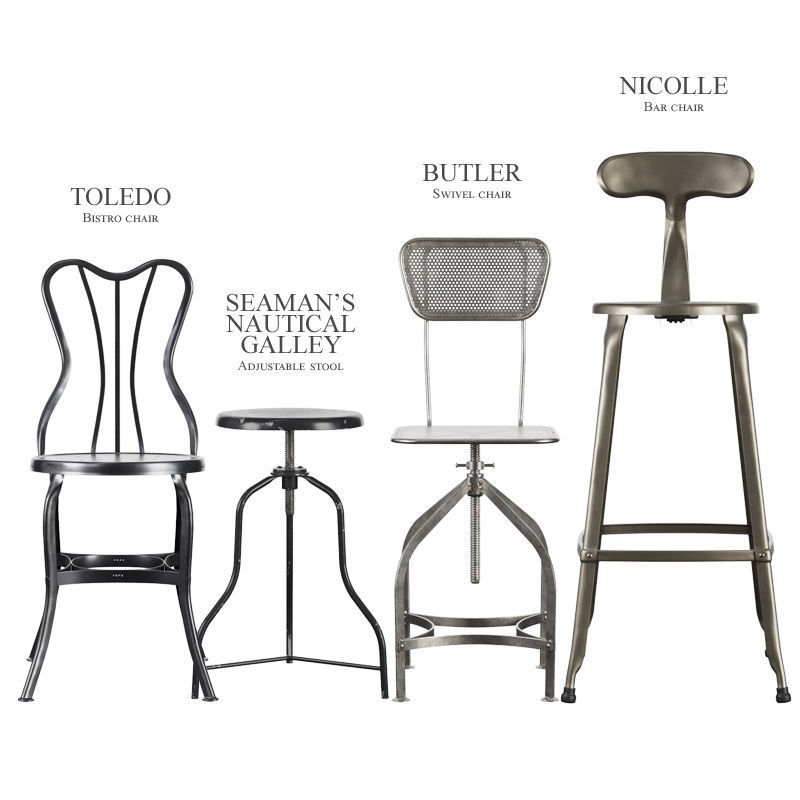 Industrial Stools And Chairs 3d Model Max Obj Fbx 1 ...