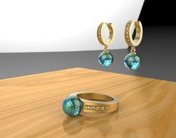 beatiful jewelry set 3D print model