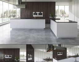 Kitchen BVA Mood Legno Rovere 3D model