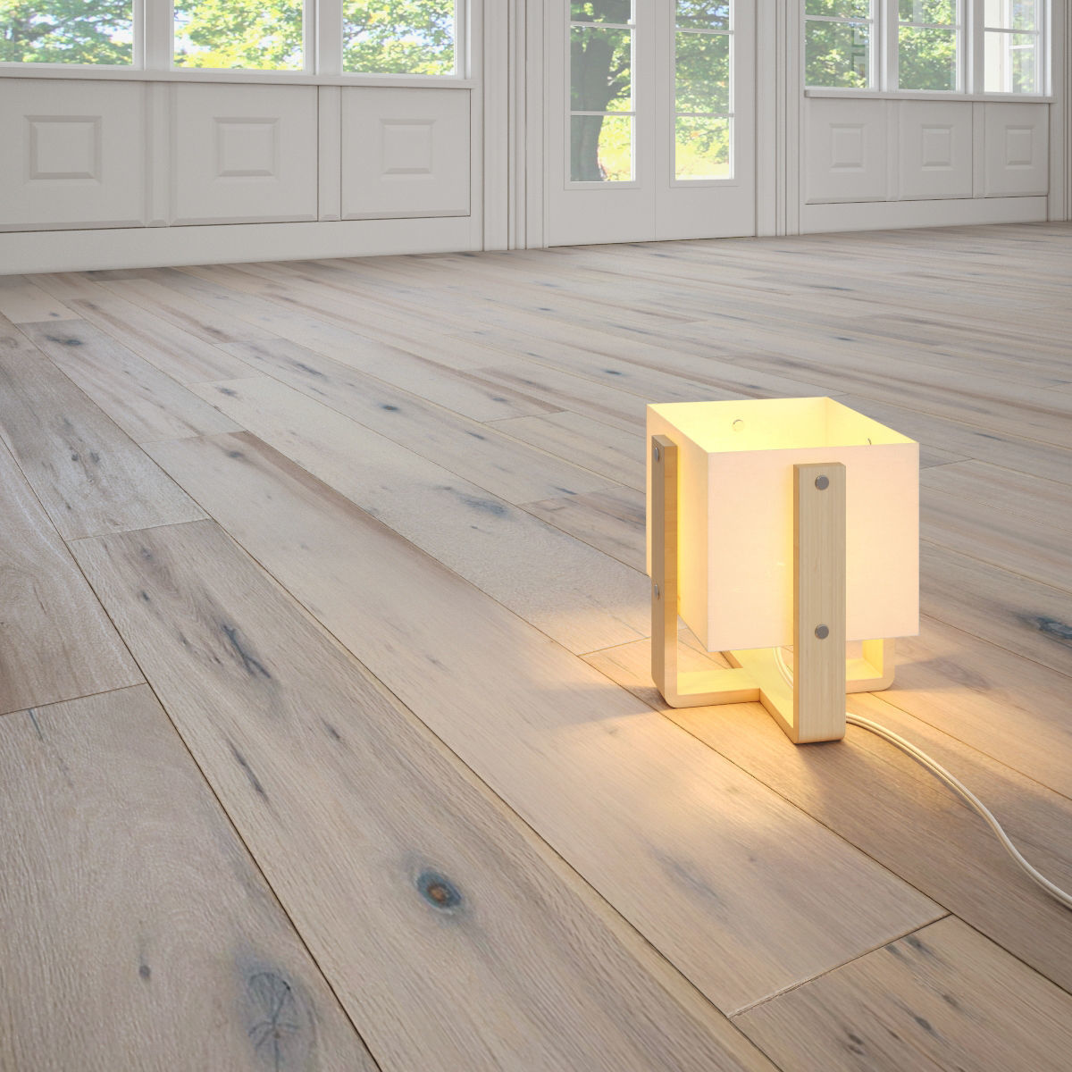 Cau Antique White Wooden Floor By Ducau 3d Model Max Fbx 1