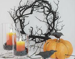 Halloween decor set 3D model