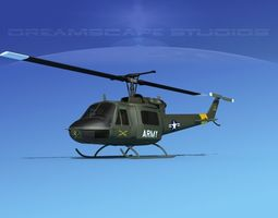 Bell UH-1B Iroquois US Army CAV2 3D