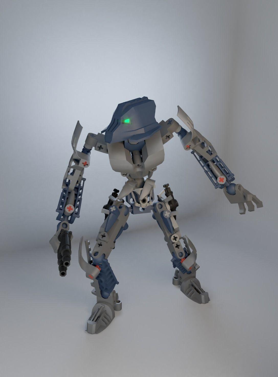 bionicle guard 3d model cgtrader