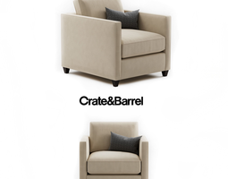 3D Crate and Barrel Dryden Chair