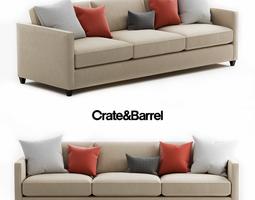 3D model Crate and Barrel Dryden Grande Sofa