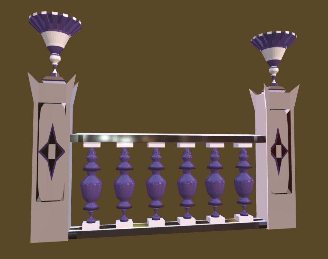 Balustrade Violaceous Palace Decor Baroque - 3