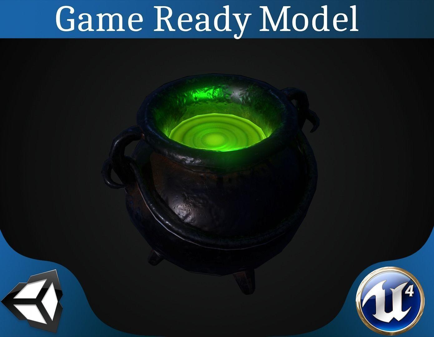 Pot with magic potion