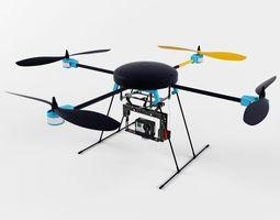 lotusrc t580 quadcopter 3d model fbx