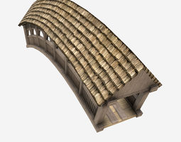3D model Low Poly PBR Bridge