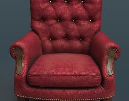 3D model Velvet armchair
