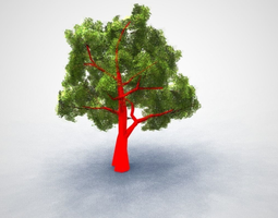 Oak Tree 3D asset low-poly