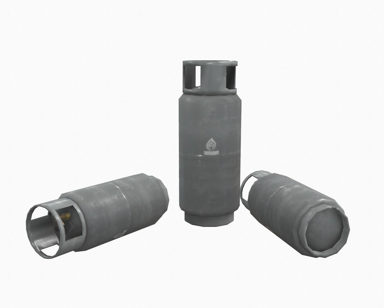 Lpg gas tank low poly