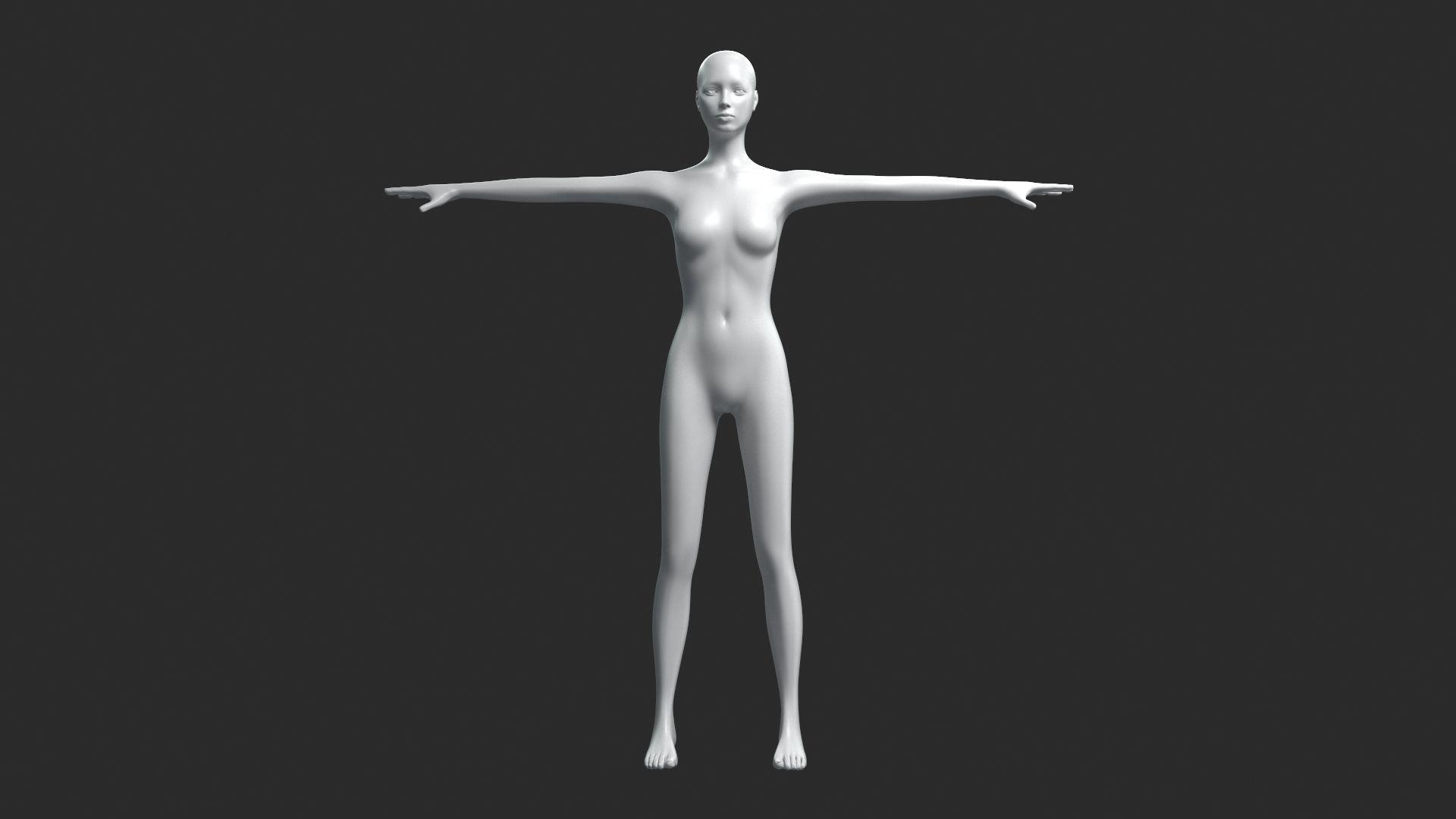 Animated Female Base Mesh