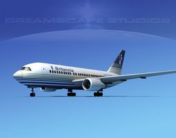 3D model Boeing 767-200ER Britannia Airways