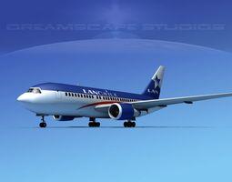 3D Boeing 767-200ER Lan Chile
