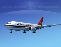 Boeing 767-200ER South African Airways 3D model