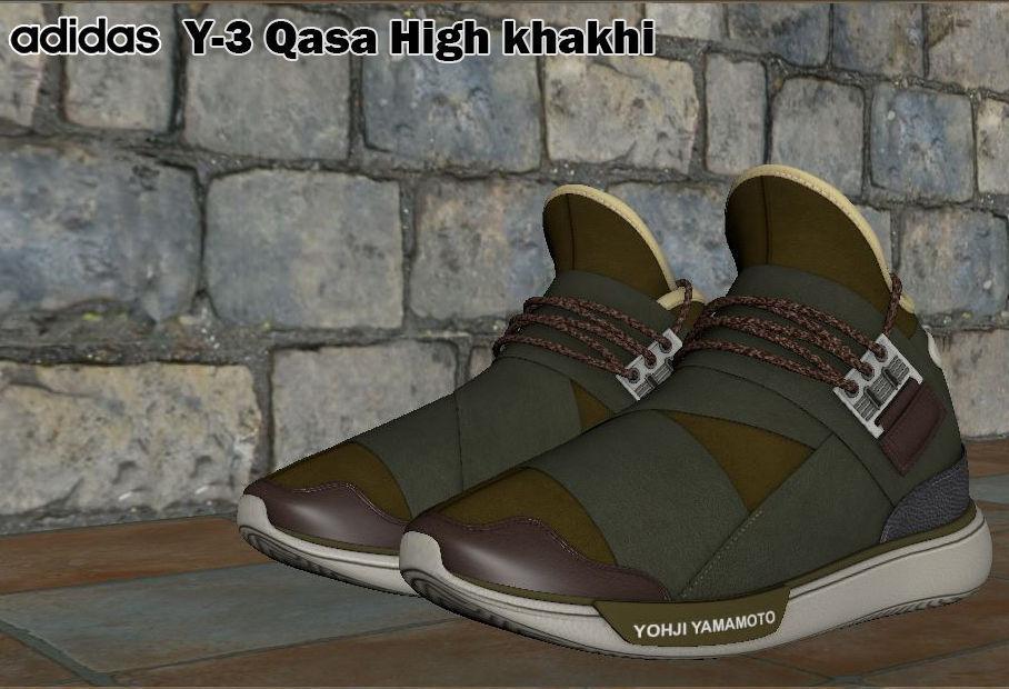 f15179b28e1b adidas y - 3 qasa high- khaki 3d model obj mtl fbx ma mb 1 ...