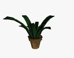 Plant in pot 3D model plant