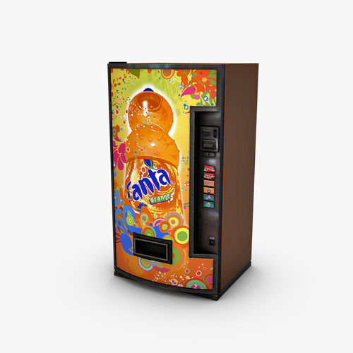vending machine fanta 3d model max obj mtl 3ds fbx c4d dae 1