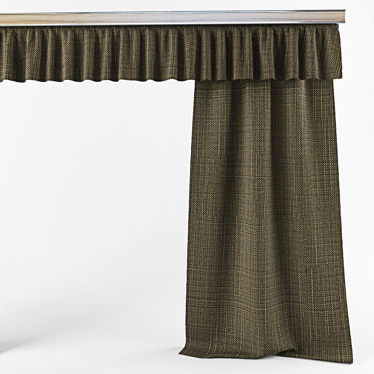 Simple Curtains 3d Model Max Obj Fbx Mtl Mat 5