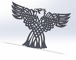 celtic bald eagle 3d model stl
