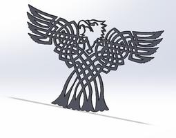 Celtic Bald eagle 3D Model
