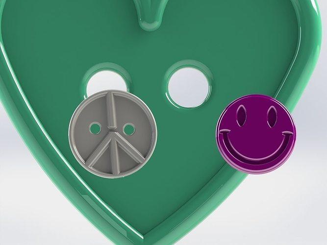 cloth buttons 3d model stl 1
