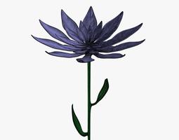 3D model Purple flower