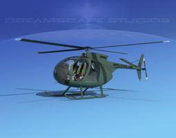 3D Hughes OH-6 Cayuse V01