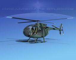 Hughes OH-6 Cayuse V02 3D model