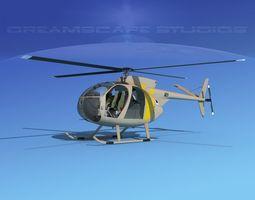 Hughes OH-6 Cayuse V07 3D model