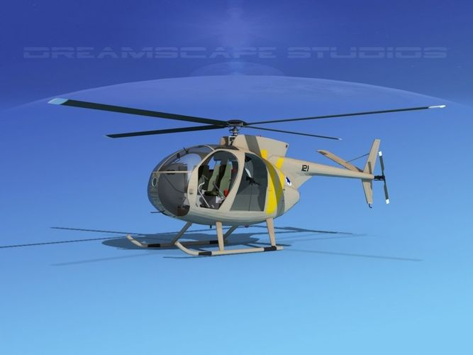 hughes oh-6 cayuse v07 3d model animated max obj mtl 3ds lwo lw lws dxf dwg 1