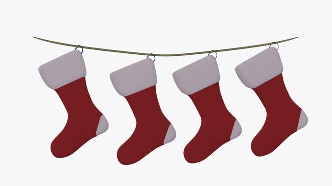 celebration christmas socks 3d cgtrader