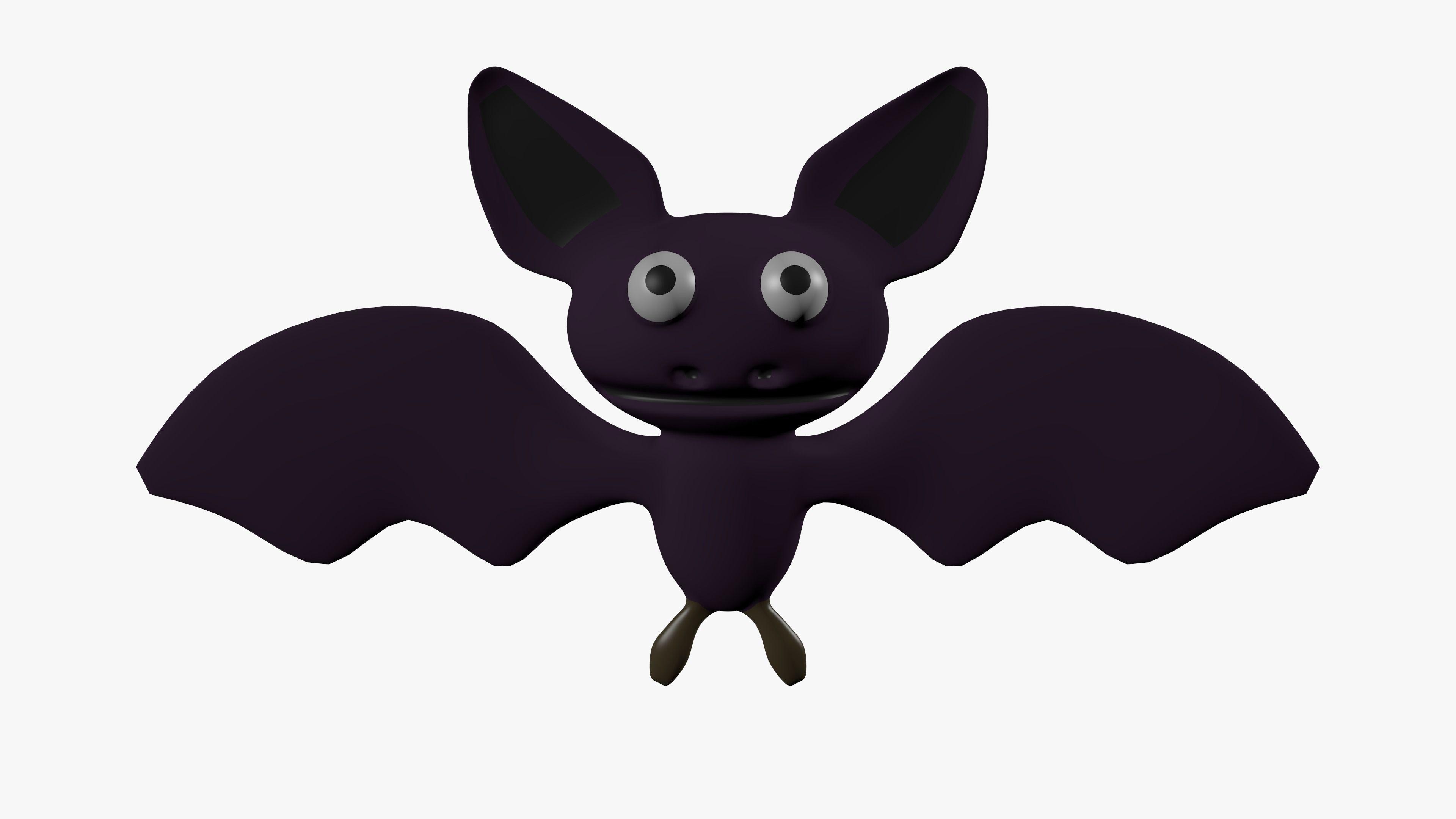 A Picture Of A Cartoon Bat cartoon bat   3d model
