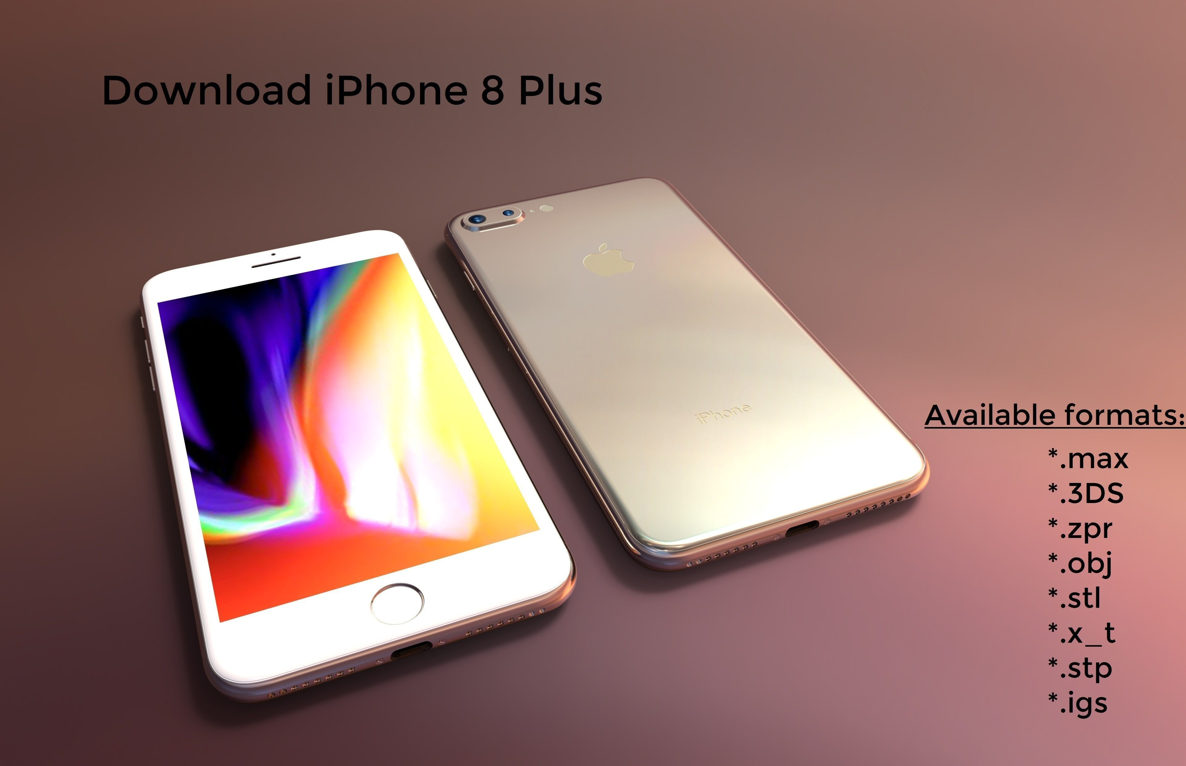 iPhone 8 Plus - original dimensions 3D model