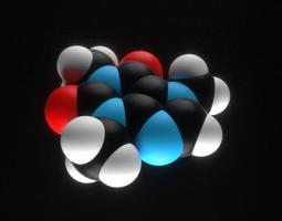 3D printable model Caffeine molecule