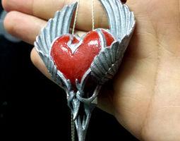 Heart Pendant 3D print model