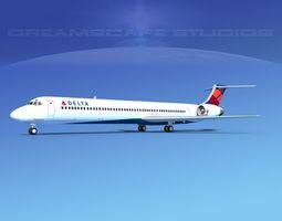 3D McDonnell Douglas MD83 Delta Airlines 2