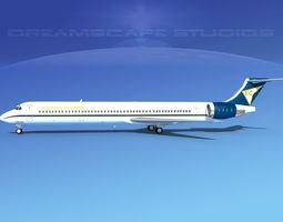 3D McDonnell Douglas MD83 Edwards Charter