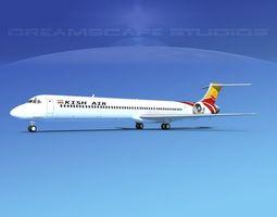 McDonnell Douglas MD83 Kish Air 3D model