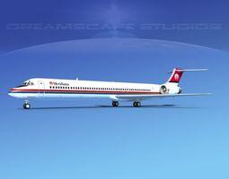 3D model McDonnell Douglas MD83 Meridiana