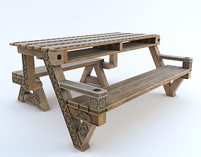 3D printable model Transformer bench table with carving