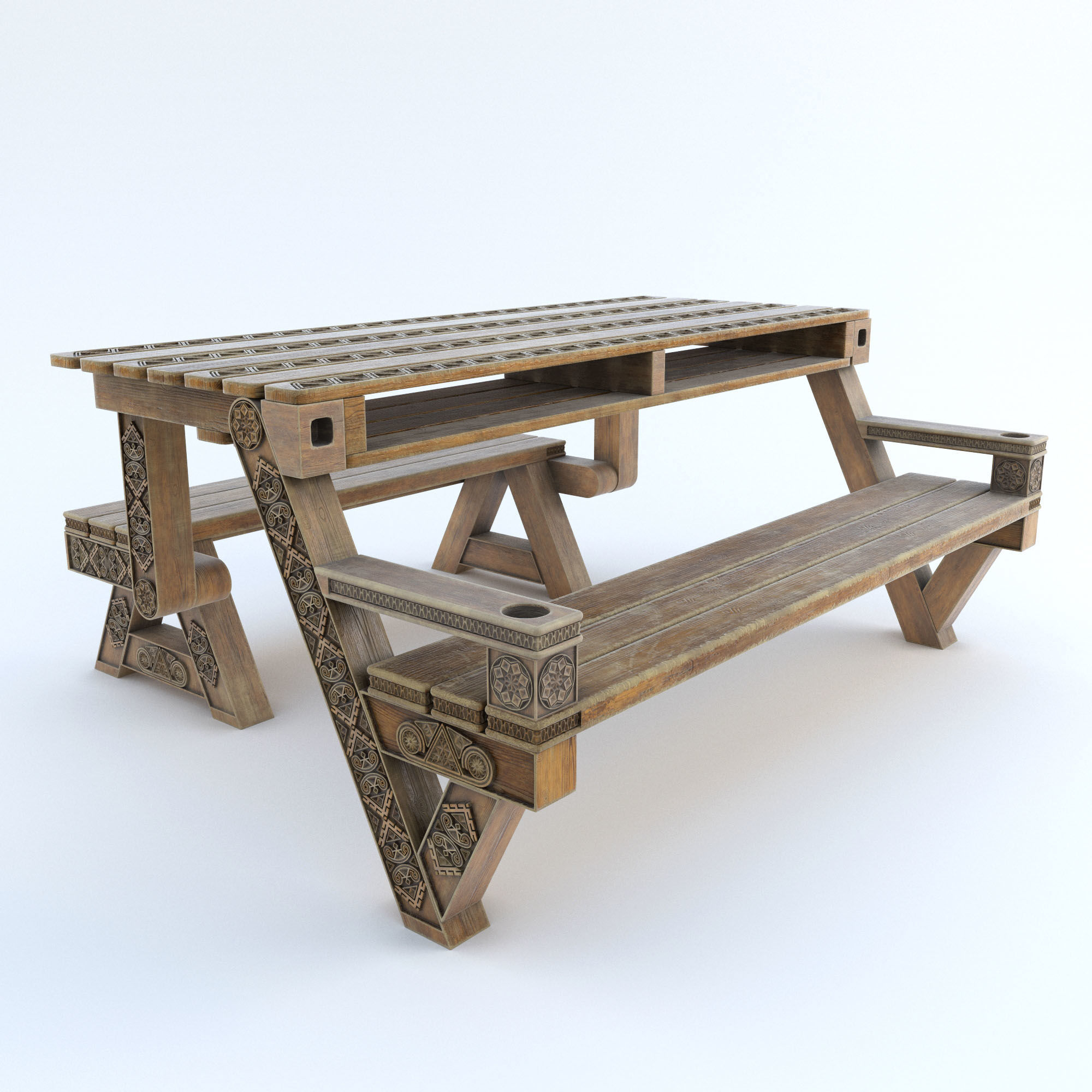 plastic recycled bench cutout product in table tdp from blue furniture black picnic brassington